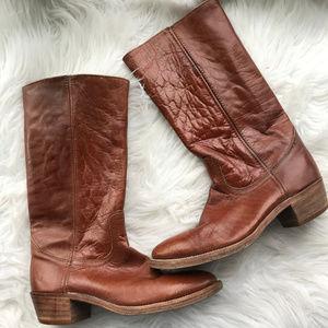 Frye Men's Vintage Caramel Brown #2595 Boots 8.5D